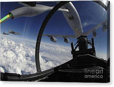 The Refueling Boom From A Kc-135 Canvas Print by Stocktrek Images