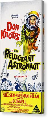 The Reluctant Astronaut, Upper Right Canvas Print