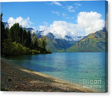 Canvas Print featuring the photograph The Remarkables by Michele Penner