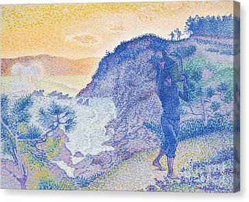 The Return Of The Fisherman Canvas Print by Henri-Edmond Cross