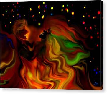 4th July Canvas Print - The Revellers by Mathilde Vhargon