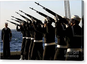 The Rifle Detail Aboard Canvas Print by Stocktrek Images