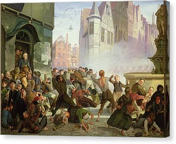 The Riot Canvas Print by Philip Hoyoll