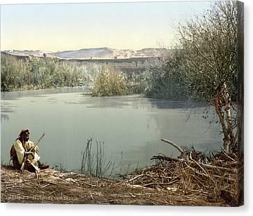 The River Jordan, Holy Land, Jordan Canvas Print by Everett
