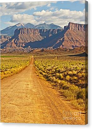The Road Beckons Canvas Print by Bob and Nancy Kendrick