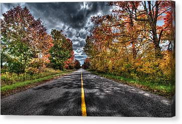 The Road Less Travelled Canvas Print by Jeff Smith