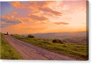 The Road Near Valley Canvas Print by Bogdan M Nicolae