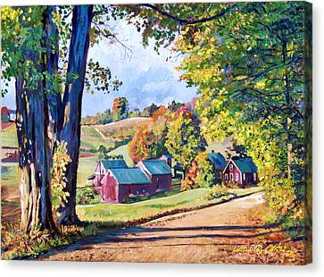The Road To Jenne Farm Vermont Canvas Print by David Lloyd Glover