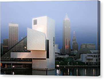 The Rock And Roll Hall Of Fame Canvas Print by Richard Gregurich