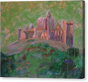 The Rock Of Cashel Canvas Print by Rosemen Elsayad