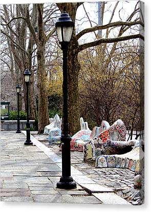 Canvas Print featuring the photograph The Rolling Bench by Anne Raczkowski