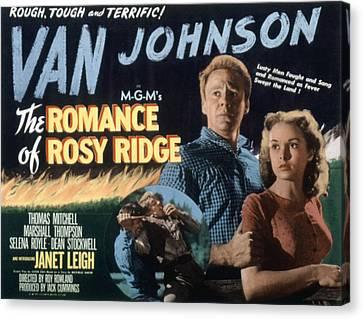 The Romance Of Rosy Ridge, Van Johnson Canvas Print by Everett