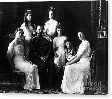 The Romanovs, Russian Tsar With Family Canvas Print by Science Source