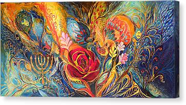 The Rose Of East Canvas Print by Elena Kotliarker