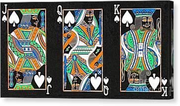 The Royal Spade Family Canvas Print by Wingsdomain Art and Photography