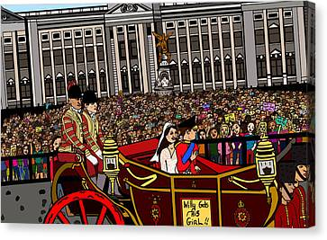 The Royal Wedding  Canvas Print by Karen Elzinga