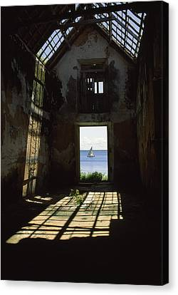 The Ruin Of A Slave Warehouse Dating Canvas Print by James L. Stanfield