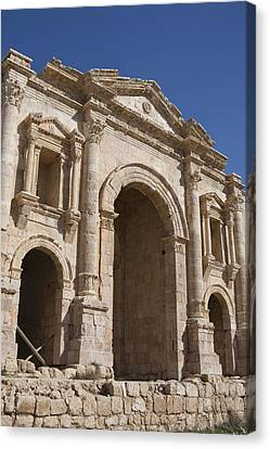 The Ruins Of The Ancient City Of Jerash Canvas Print by Taylor S. Kennedy