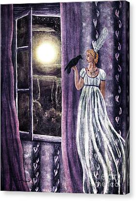 The Rustling Purple Curtains Canvas Print by Laura Iverson