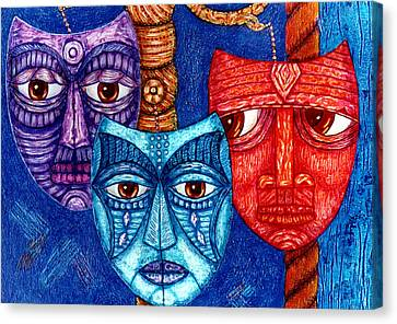 The Sadness The Mistrust And The Fatigue Canvas Print by Madalena Lobao-Tello