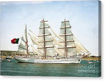 Canvas Print featuring the photograph The Sagres by Verena Matthew