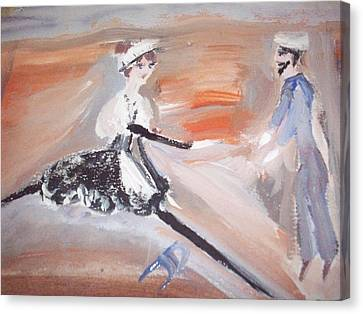 The Sailor And The French Maid Canvas Print by Judith Desrosiers