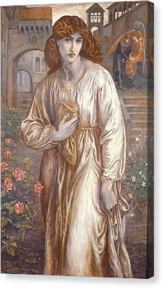Gabriel Canvas Print - The Salutation  by Dante Charles Gabriel Rossetti