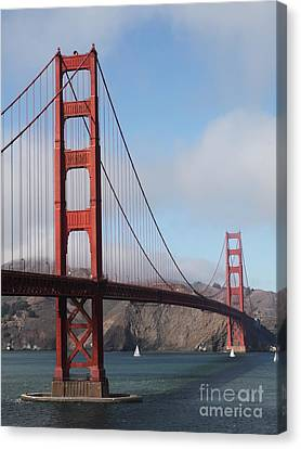 The San Francisco Golden Gate Bridge - 5d18906 Canvas Print by Wingsdomain Art and Photography