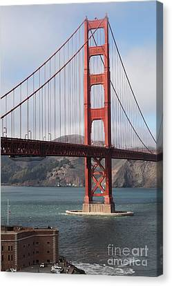 The San Francisco Golden Gate Bridge - 5d18911 Canvas Print by Wingsdomain Art and Photography