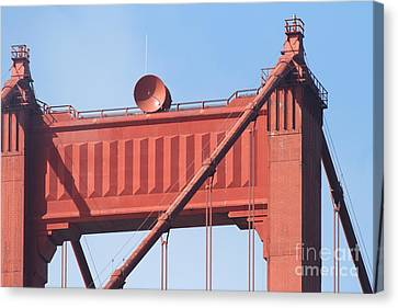 The San Francisco Golden Gate Bridge - 7d19108 Canvas Print by Wingsdomain Art and Photography