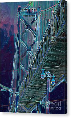 The San Francisco Oakland Bay Bridge Canvas Print by Wingsdomain Art and Photography