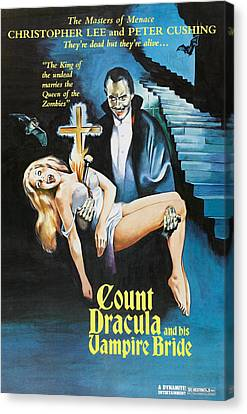 The Satanic Rites Of Dracula, Aka Count Canvas Print by Everett