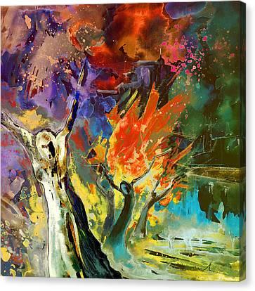 The Scream Canvas Print - The Scream 02 by Miki De Goodaboom