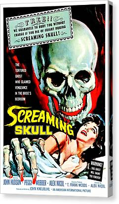 The Screaming Skull, 1958 Canvas Print by Everett