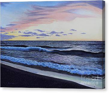 The Sea Was Angry That Day My Friends... Canvas Print by Dan Lockaby
