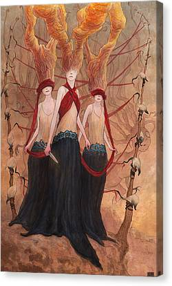 The Seamstress And The Abductions     Canvas Print by Ethan Harris
