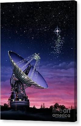 The Search For Extraterrestrial Intelligence Canvas Print by Lynette Cook