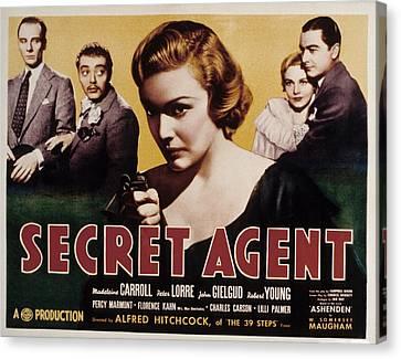 The Secret Agent, John Gielgud, Peter Canvas Print by Everett