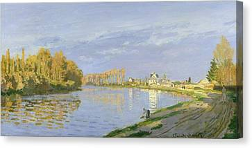 The Seine At Bougival Canvas Print by Claude Monet