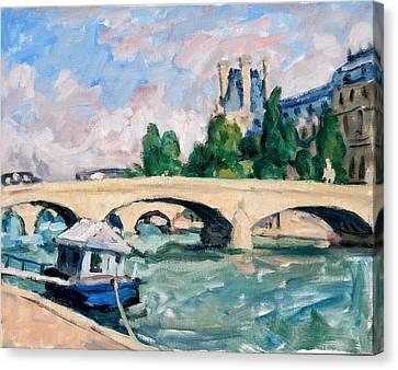 Daily Painter Canvas Print - The Seine Paris by Thor Wickstrom