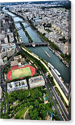 The Seine River Canvas Print by Edward Myers