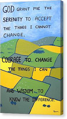 The Serenity Prayer Canvas Print by Eamon Reilly