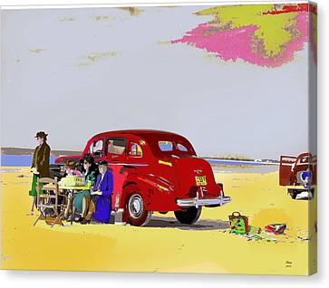 The Set Canvas Print by Charles Shoup