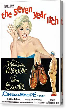 Jbp10ma14 Canvas Print - The Seven Year Itch, Marilyn Monroe by Everett