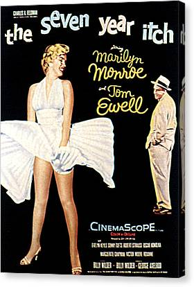 The Seven Year Itch, The, Marilyn Canvas Print by Everett