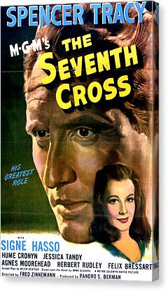 The Seventh Cross, Spencer Tracy, Signe Canvas Print by Everett