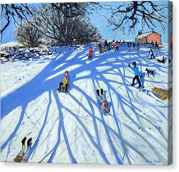 The Shadow Derbyshire Canvas Print by Andrew Macara
