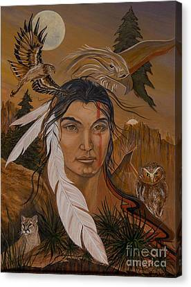 The Shaman Canvas Print by Jeanette Sacco-Belli