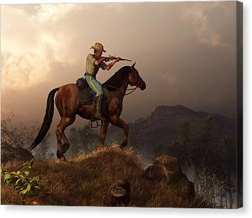 The Sharpshooter Canvas Print by Daniel Eskridge