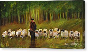 The Sheep Herder Canvas Print